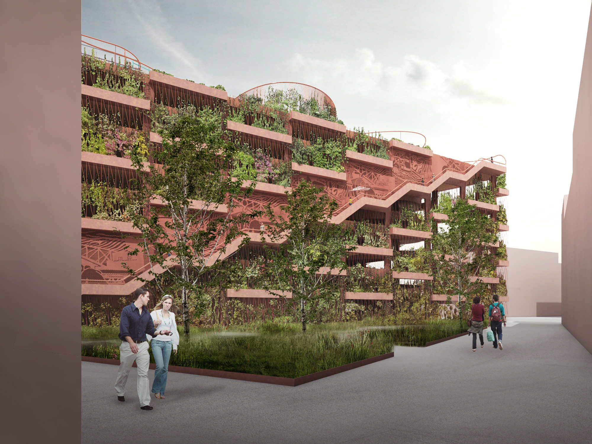 "JAJA Designs ""Park 'N' Play"" Parking Garage in Copenhagen, Exterior View. Image © JAJA Architects"