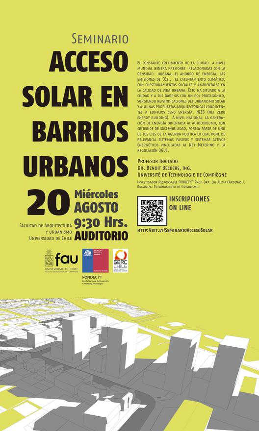 "Seminario ""Acceso solar en barrios urbanos"" / Santiago, Chile"