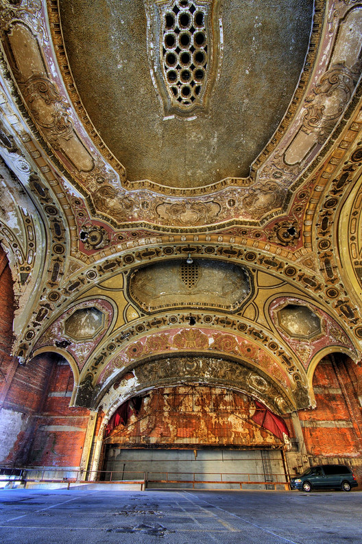 Could Detroit's Most Remarkable Ruin Finally Have a Future?, © Flickr user Vishal Patel via Huffington Post