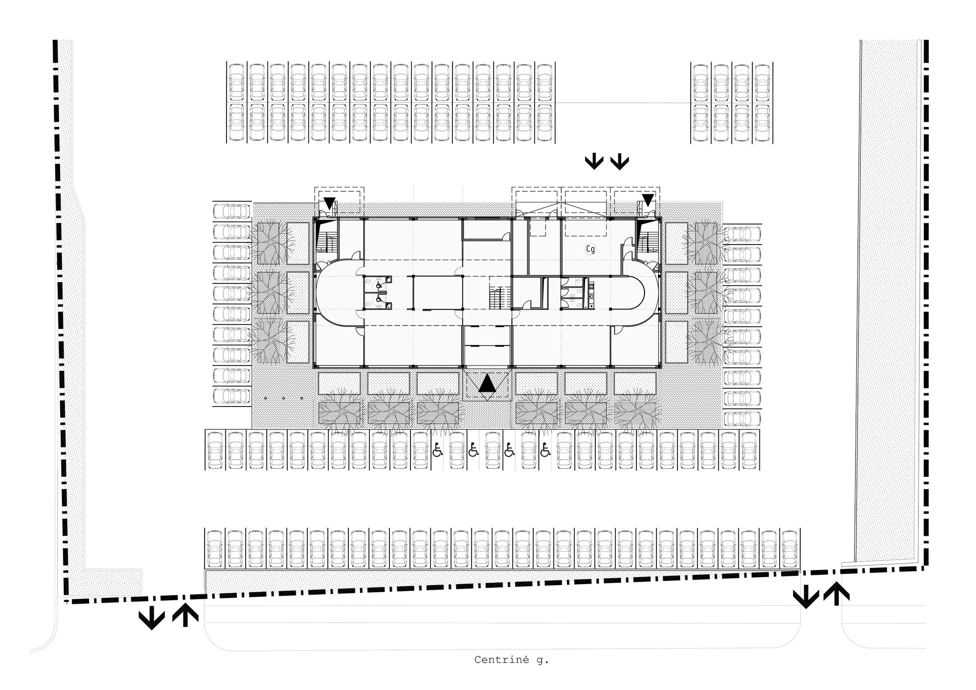 building site plan Gallery of Transport and Logistic Company Office building / 4PLIUS ...