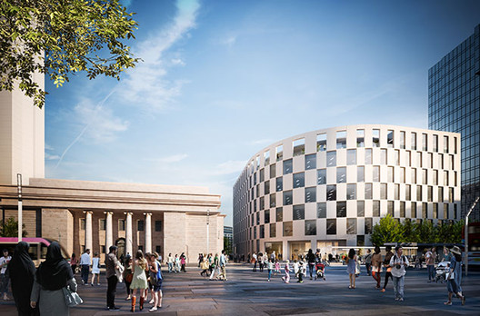 Make Architects Win Planning For First Building in Birmingham's Arena Central, © Make Architects