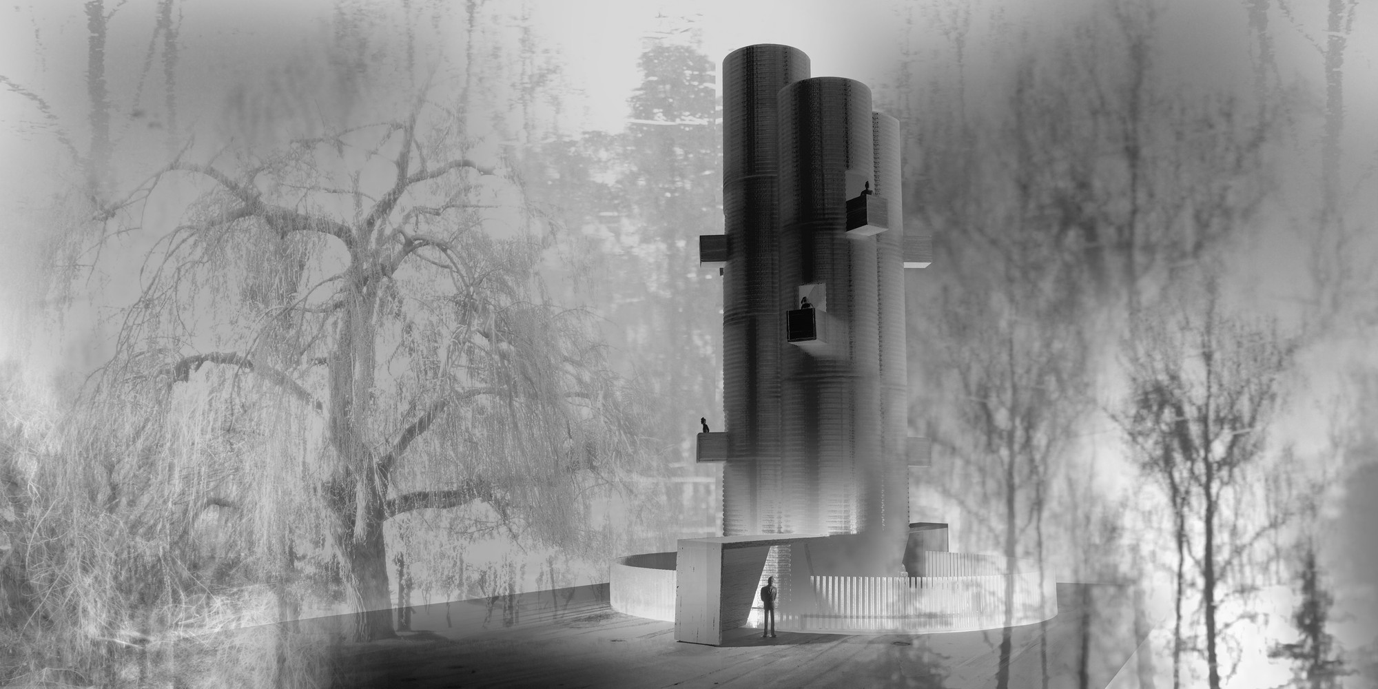 'Noise Tower', finalista en YAP_Constructo 2014 / Santiago, Chile, Courtesy of Alfredo Thiermann y Sebastián Cruz