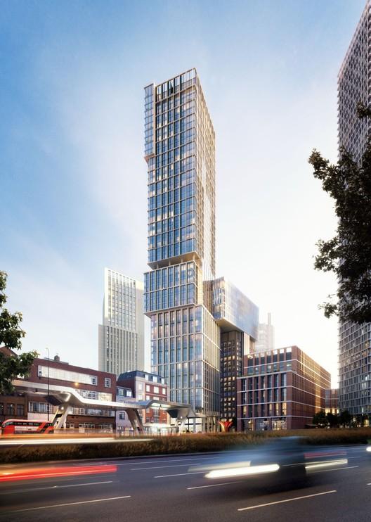 "KPF Obtains Planning Permission for London's ""New Bondway"", © KPF"