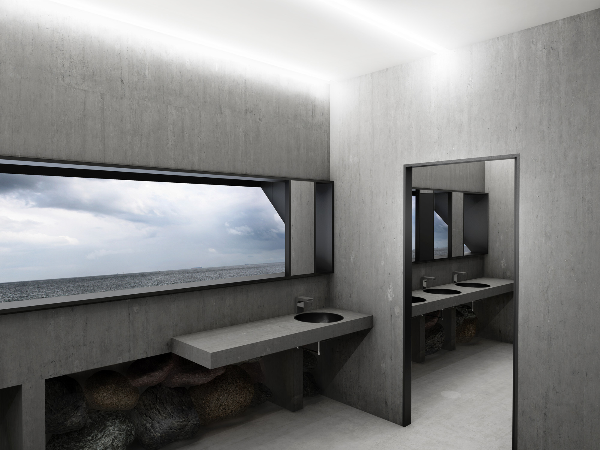 This Public Toilet has a Periscope That Offers a Serene Sea