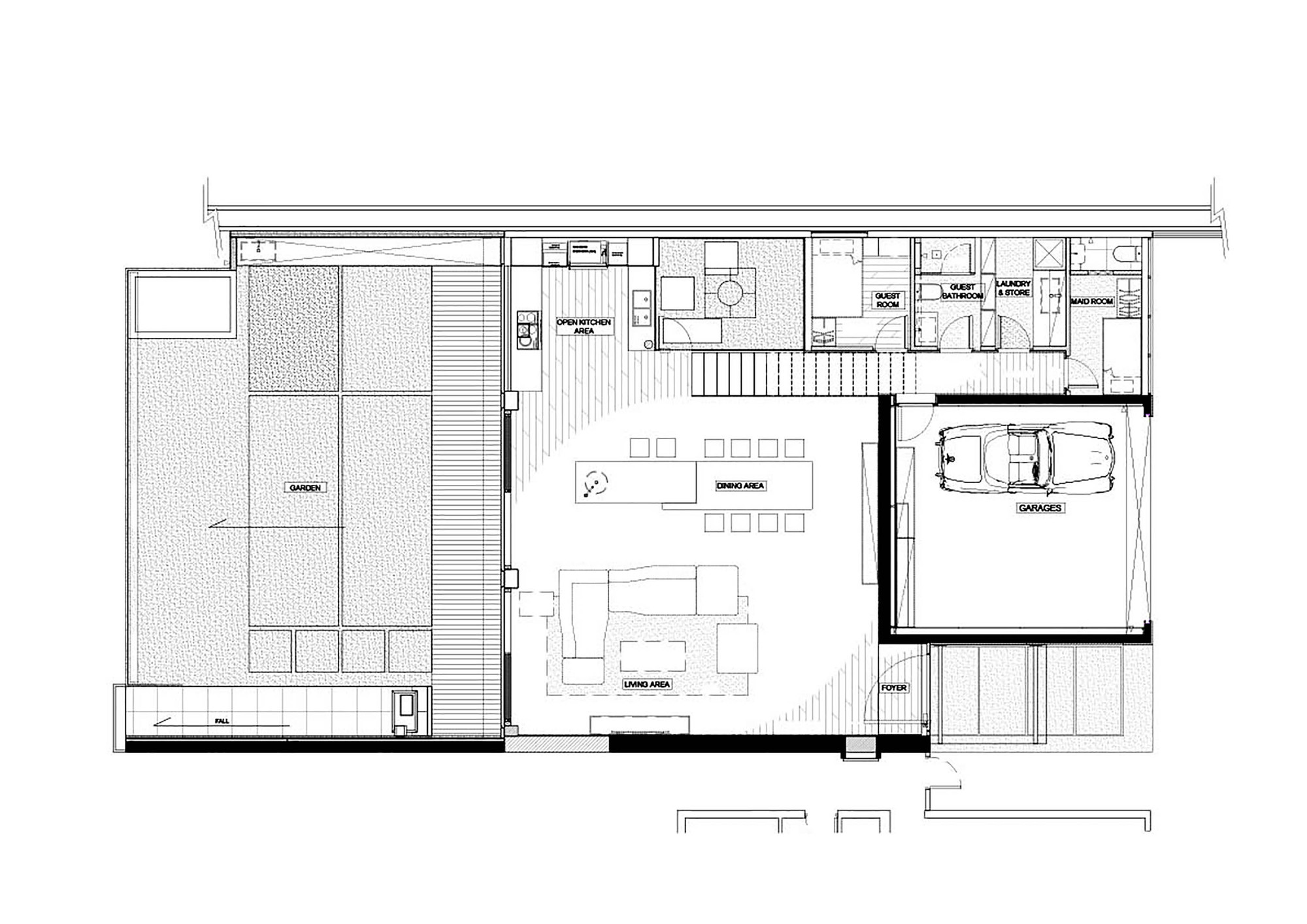 House in shatin mid level millimeter interior design limited ground floor plan
