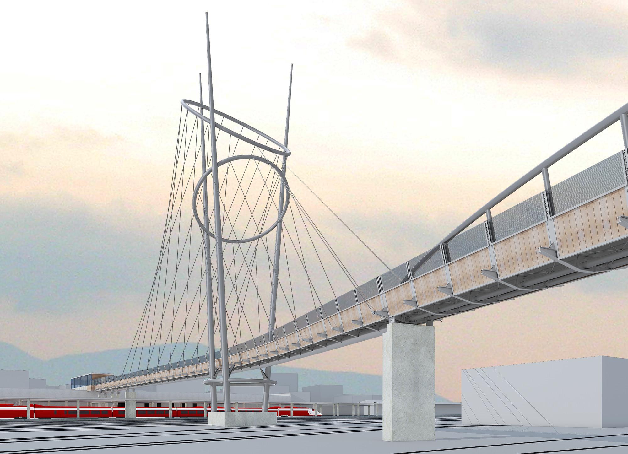 McDowell + Benedetti, comienzan la construcción del puente peatonal y estación de trenes en Terni, Cortesía de McDowell+Benedetti