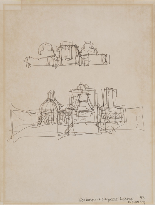 Frank Gehry, Goldwyn-Hollywood Library, 1983. Image Courtesy of Kemper Art  Museum