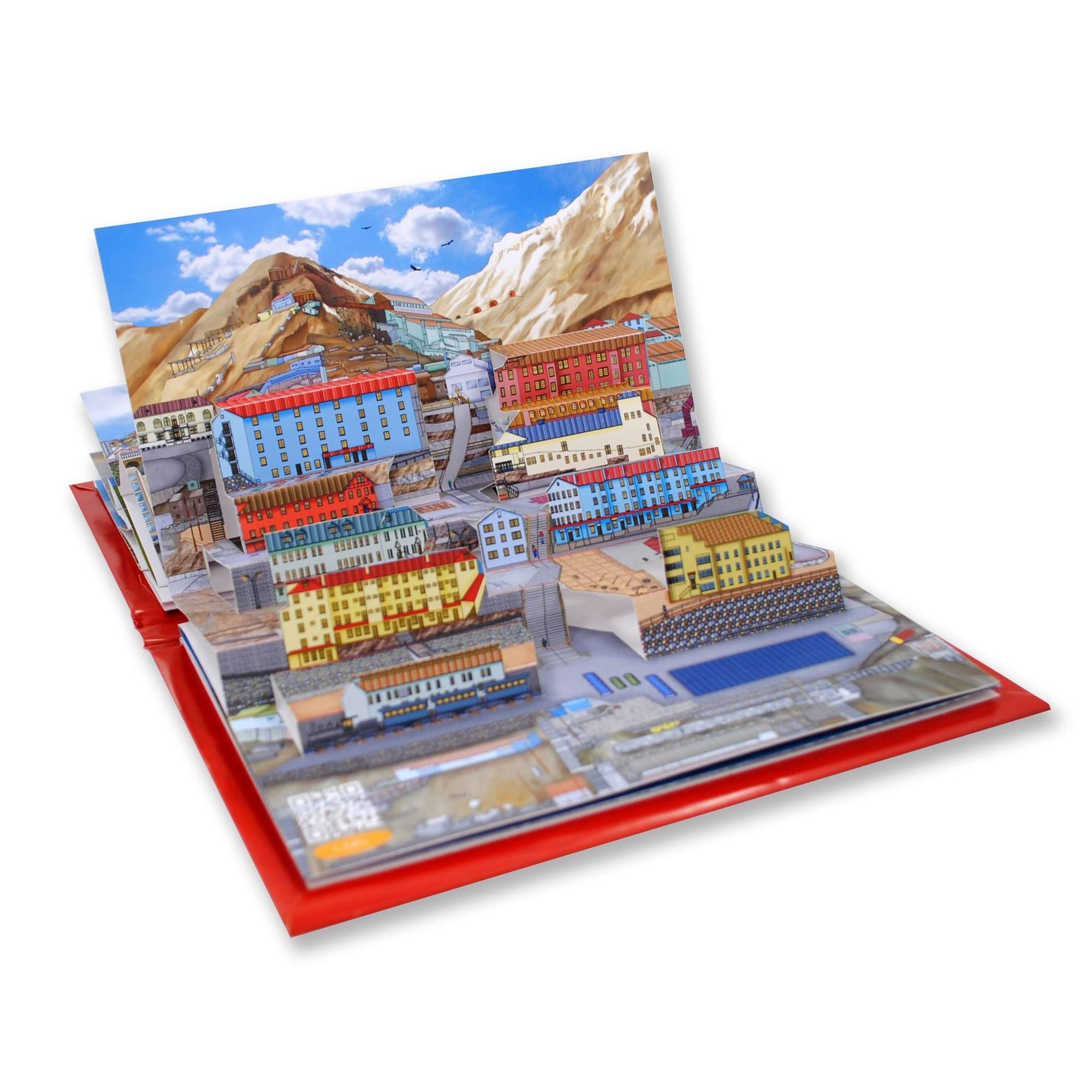"""Arte e Arquitetura: """"Minha Cidade de Papel"""", atrativos patrimoniais ao estilo pop-up, Libro Pop-UP Tesoros de Chile. Image Courtesy of Mi Ciudad de Papel"""