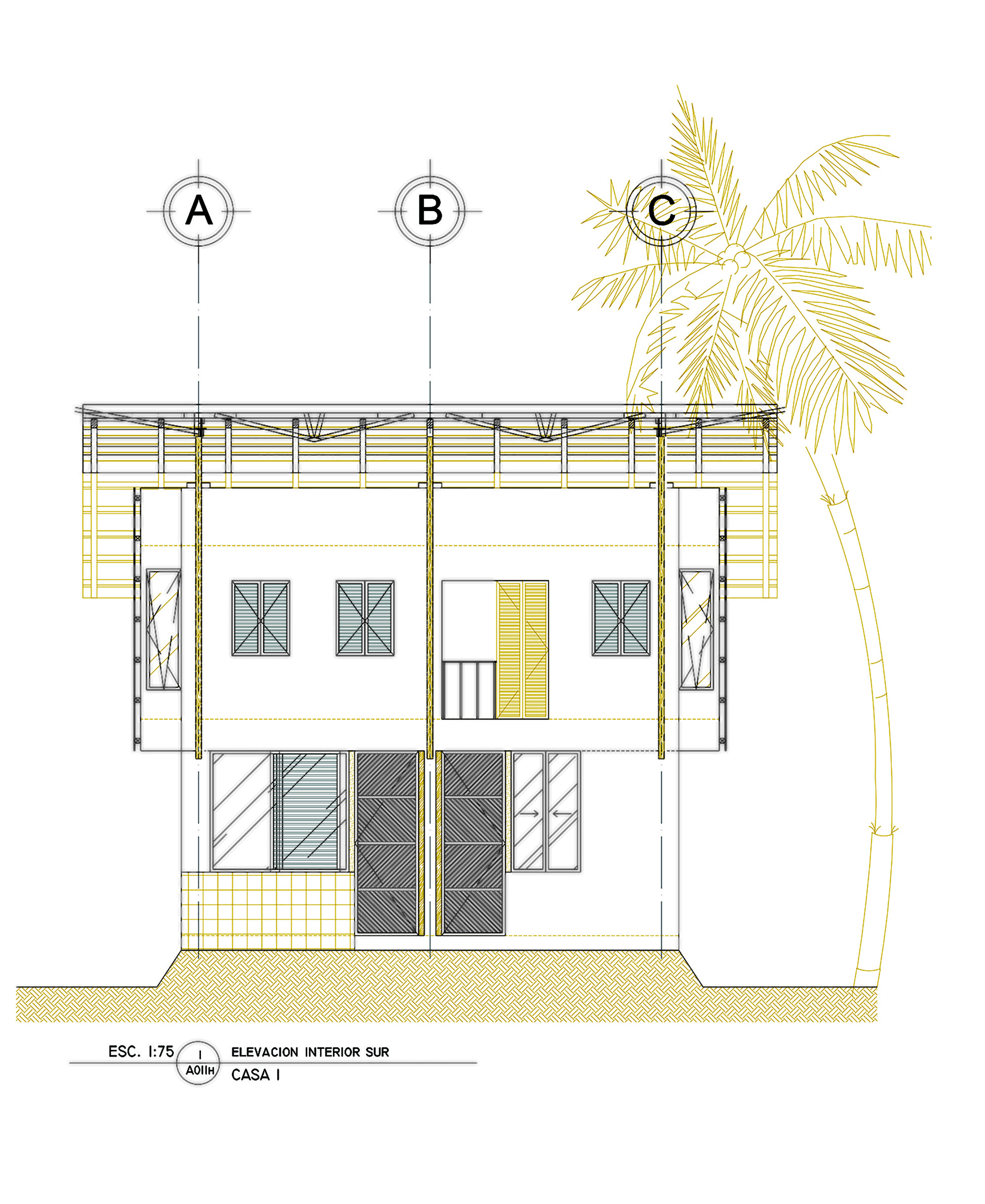 Gallery of guatemala beach house christian ochaita for Beach house elevations