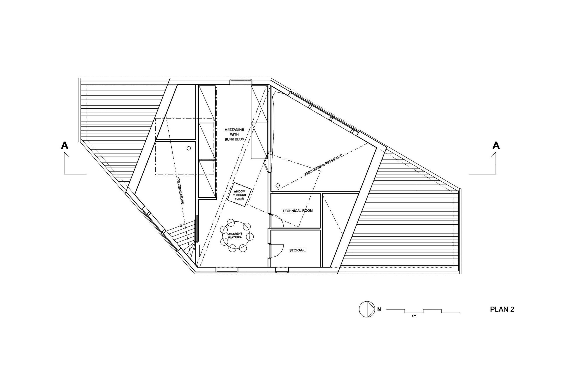 Gallery of rabot tourist cabin jva 21 for Mezzanine plan