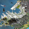 OMA Qianhai Port City, Concept of masterplan, 2010 © OMA. Image Courtesy of FRAC Centre
