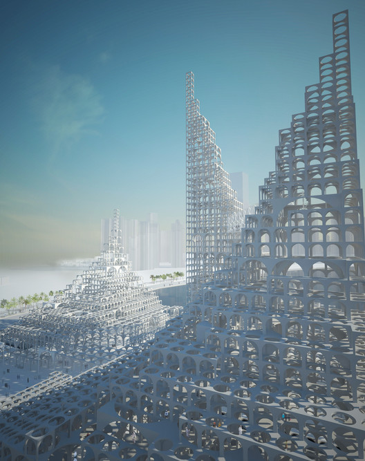 City As A Vision: Tribute to Michel Ragon, Sou Fujimoto Architects Souk Mirage, 2013 © Sou Fujimoto Architects. Image Courtesy of FRAC Centre