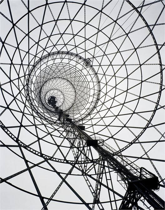 Shukhov Radio Tower Saved by Moscow City Hall, Shabolovka Radio Tower, Moscow, Russia. Vladimir Shukhov, 1922. Image © Richard Pare 2007