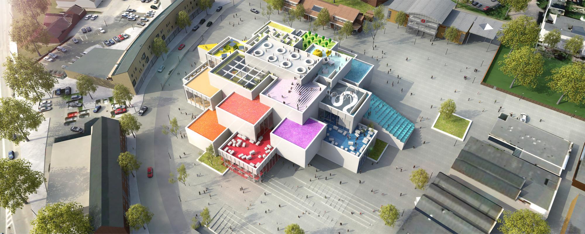 Bjarke Ingels Lays Foundation Brick At Lego House Archdaily