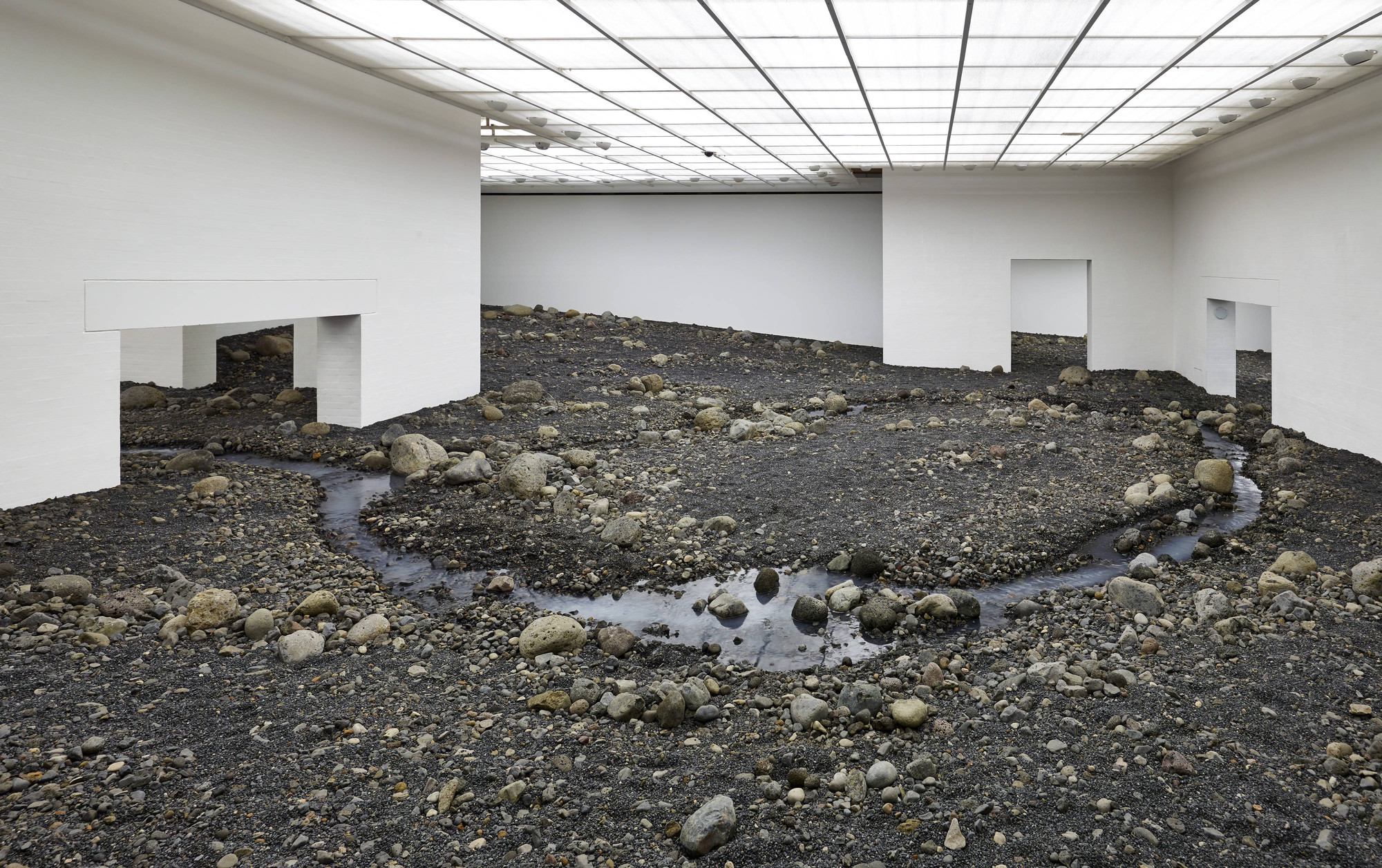 Olafur Eliasson Creates an Indoor Riverbed at Danish Museum, © Louisiana Museum of Modern Art
