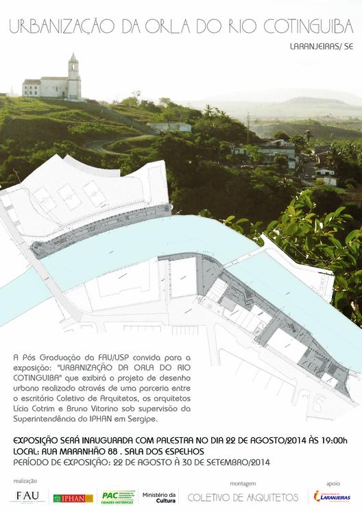 """Palestra e exposição """"Urbanização da Orla do Rio Cotinguiba"""", na FAUUSP"""