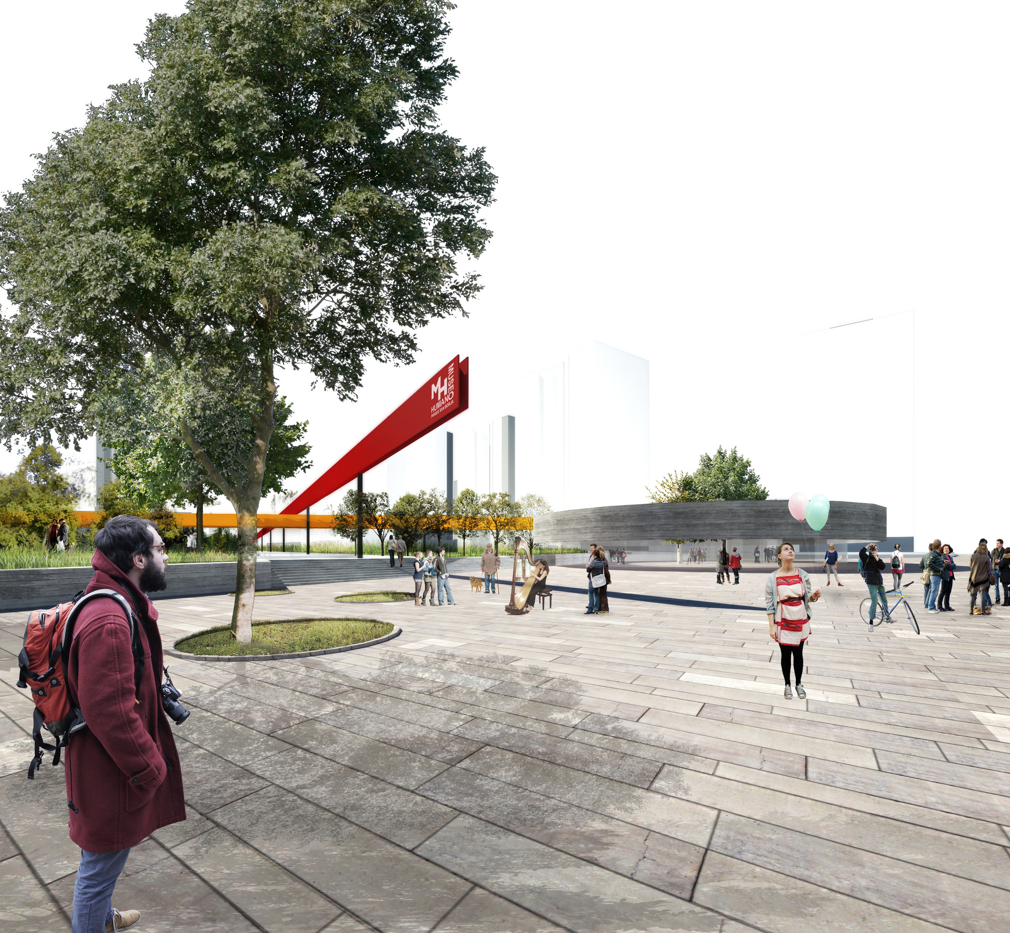 Propuesta de Mobil Arquitectos en concurso Nuevo Parque Museo Humano San Borja / Santiago, Courtesy of Mobil Arquitectos