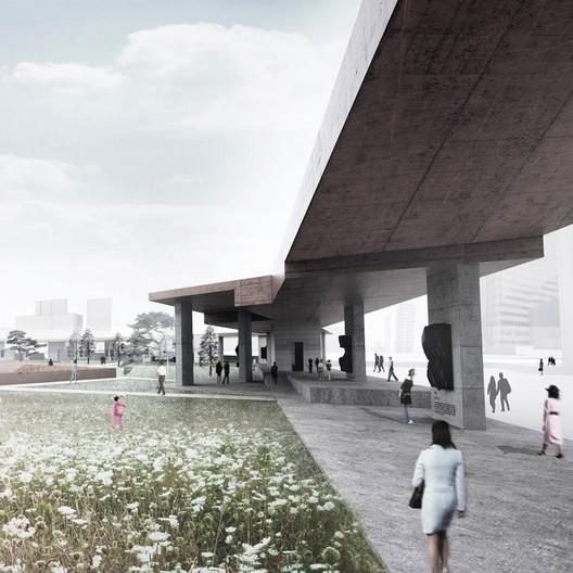 Memorial Wall. Image Courtesy of PWFERRETTO / ESOU Architects