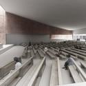 Church Interior. Image Courtesy of PWFERRETTO / ESOU Architects