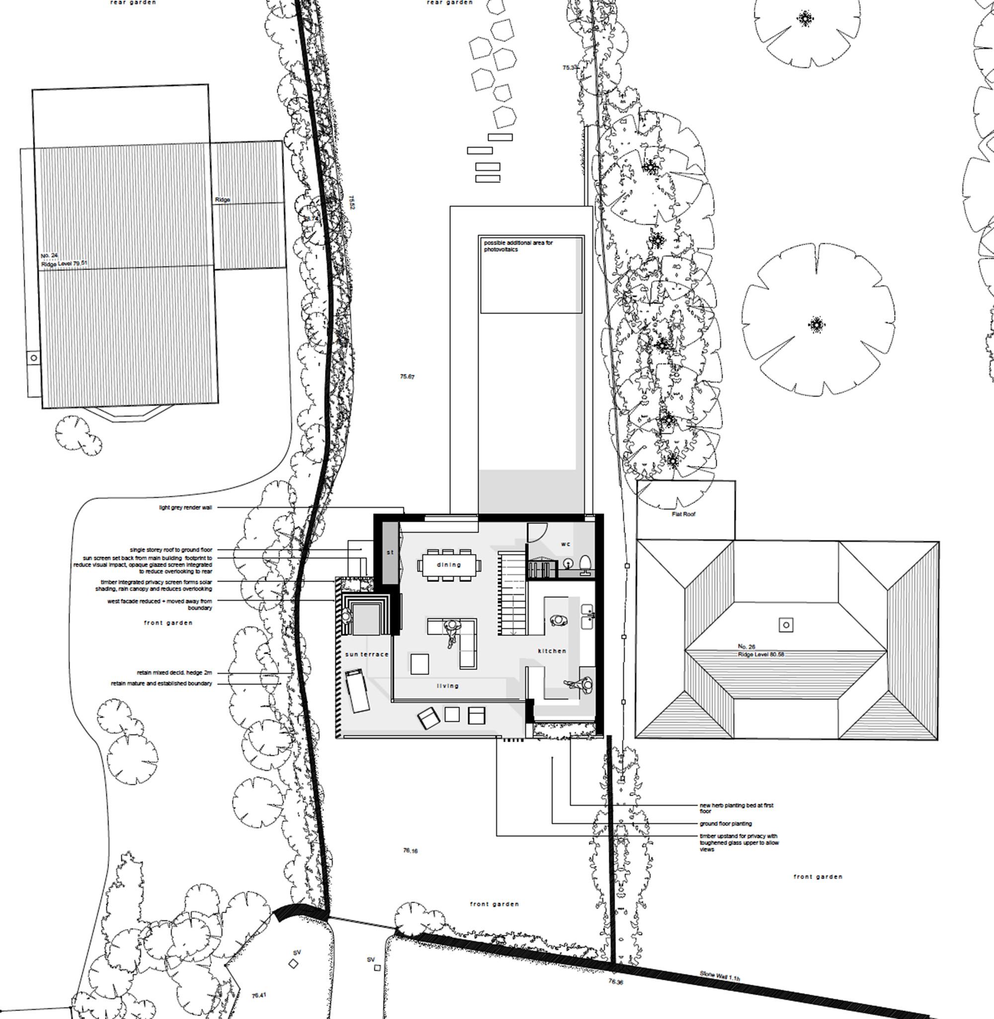 Galer a de casa cliff hyde hyde architects 15 for Hyde homes floor plans