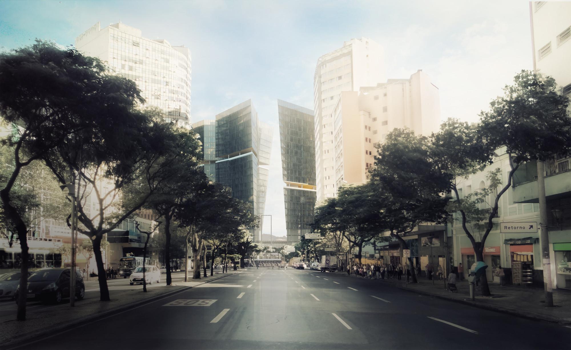 Segundo Lugar no Concurso para o Centro Administrativo de Belo Horizonte / Vazio S/A, Courtesy of Cortesia de Vazio S/A