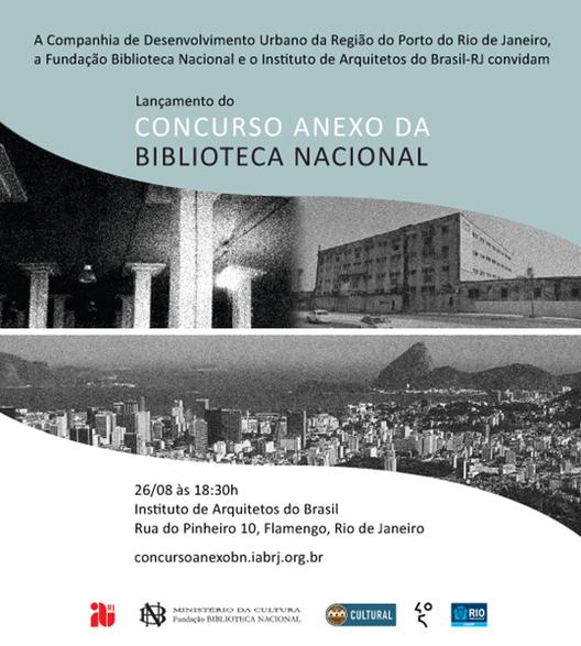 Lançamento do concurso de projeto para o edifício anexo da Biblioteca Nacional