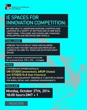 IE School of Architecture and Design's SPACES FOR INNOVATION Prize