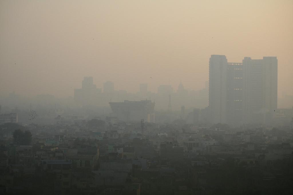 As cidades mais poluídas do mundo segundo a OMS (2014), Nova Déli, Índia © jepoirrier in Flickr. Used under <a href='https://creativecommons.org/licenses/by-sa/2.0/'>Creative Commons</a>