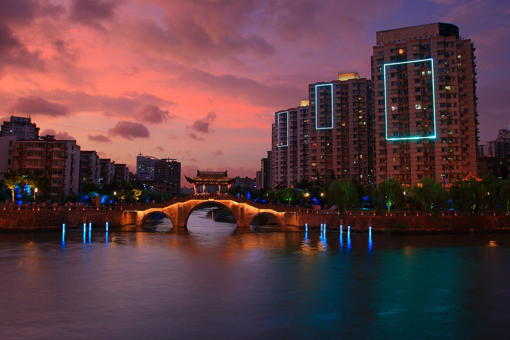 Urbanismo luz e novas estratégias, Hangzhou Grand Canal China- © Concepto & Zhongtai