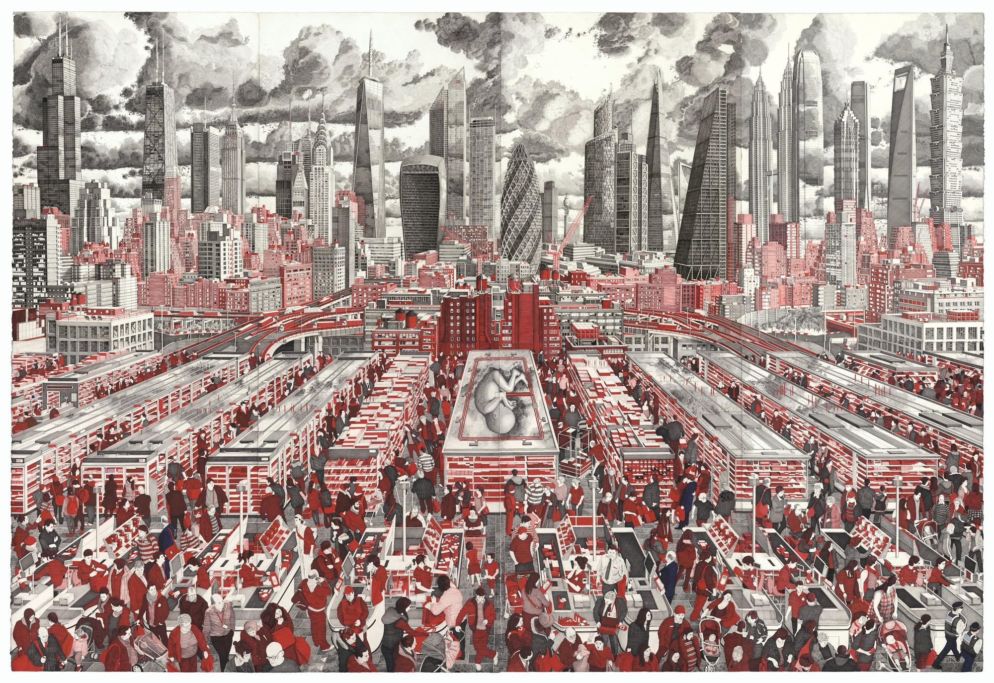 """O artista Mark Lascelles Thornton fala sobre sua obra """"The Happiness Machine"""", Todos os 8 paineis do The Happiness Machine. Imagem © Mark Lascelles Thornton"""