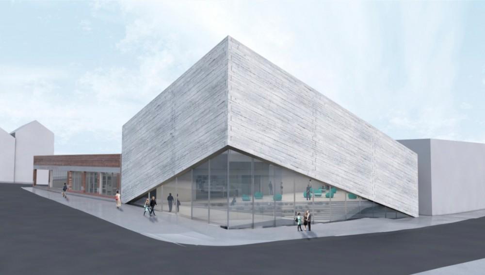 Projeto do BIG para o Kimball Art Center é rejeitado novamente, Projeto revisado para o Kimball Art Center. Cortesia de BIG