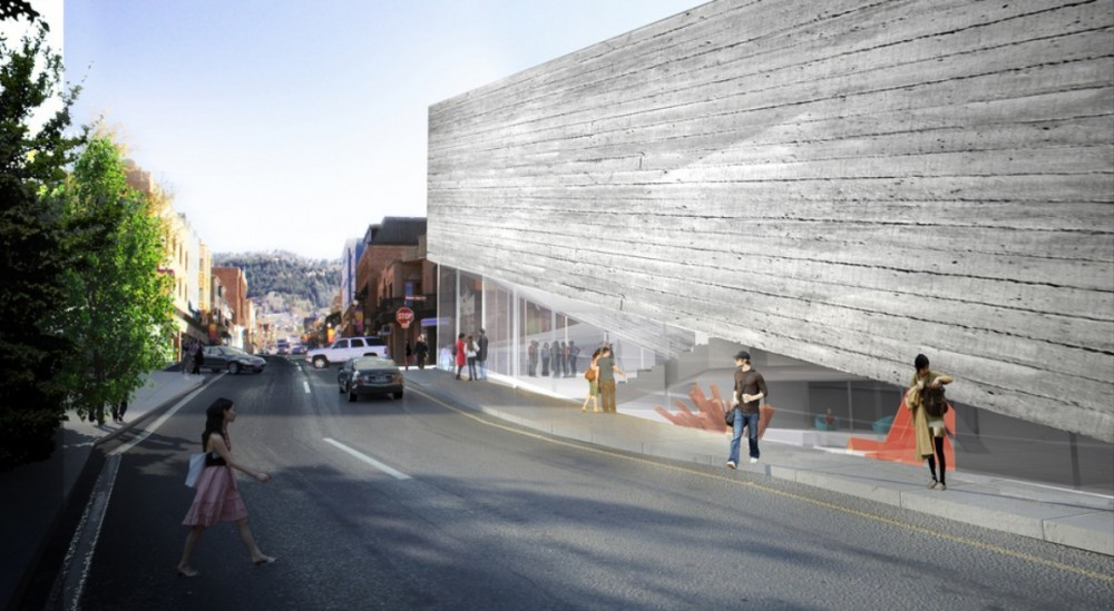BIG Designs Rejected Again for Kimball Art Center, Revised design for the Kimball Art Center. Image © BIG
