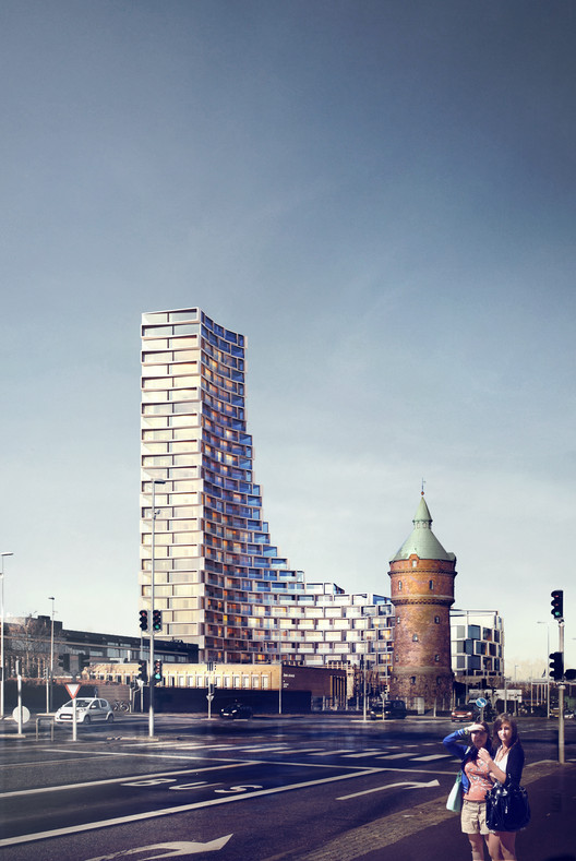 3XN Designs Affordable Housing Tower in Denmark, © 3XN