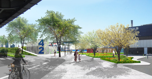 Mathews Nielsen Landscape Architects' designs for Pier 42. Image Courtesy of Mathews Nielsen Landscape Architects