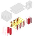 Estrutura: Lajes + pilares. Image Courtesy of Arqbox