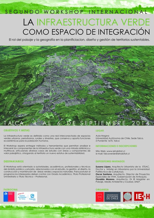 """Workshop Internacional """"La Infraestructura Verde como espacio de integración"""" / ¡Sorteamos dos cupos! [cerrado]"""