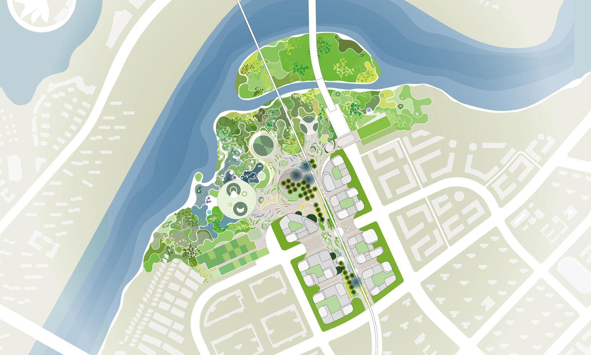 Gallery Of Master Plan Revealed For Binhai Eco City In