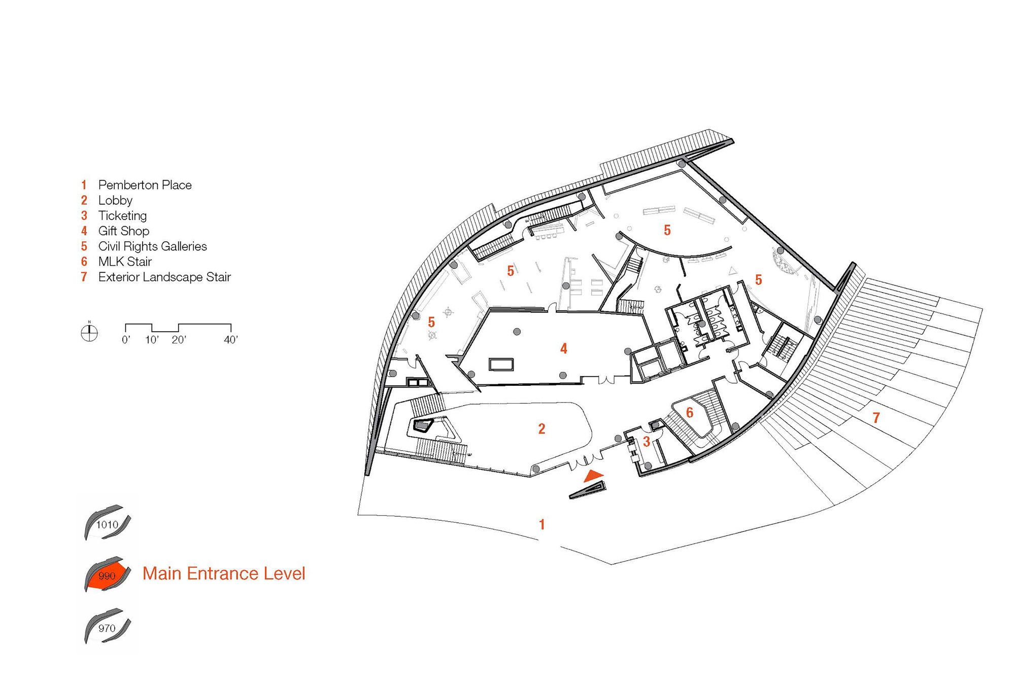 Exhibition Plan D : Gallery of national center for civil and human rights