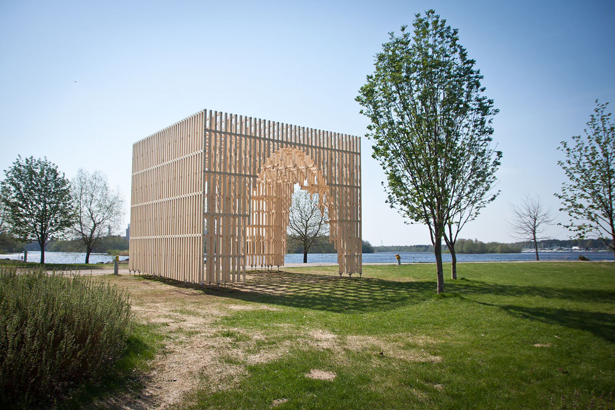 HILA Pavilion / Digiwoodlab Project + University Of Oulu Students, Courtesy of Digiwoodlab Project