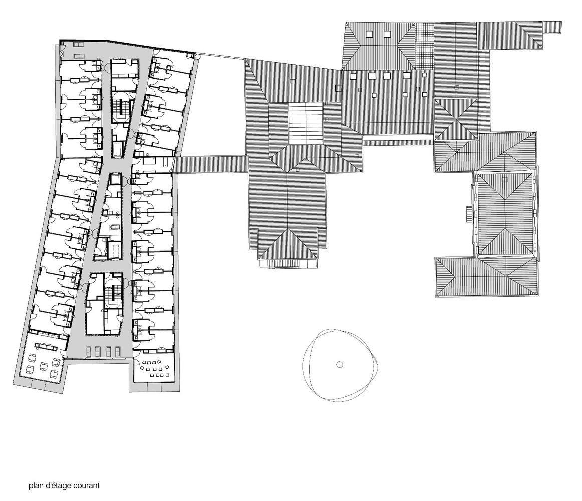 Maison de retraitefloor plan