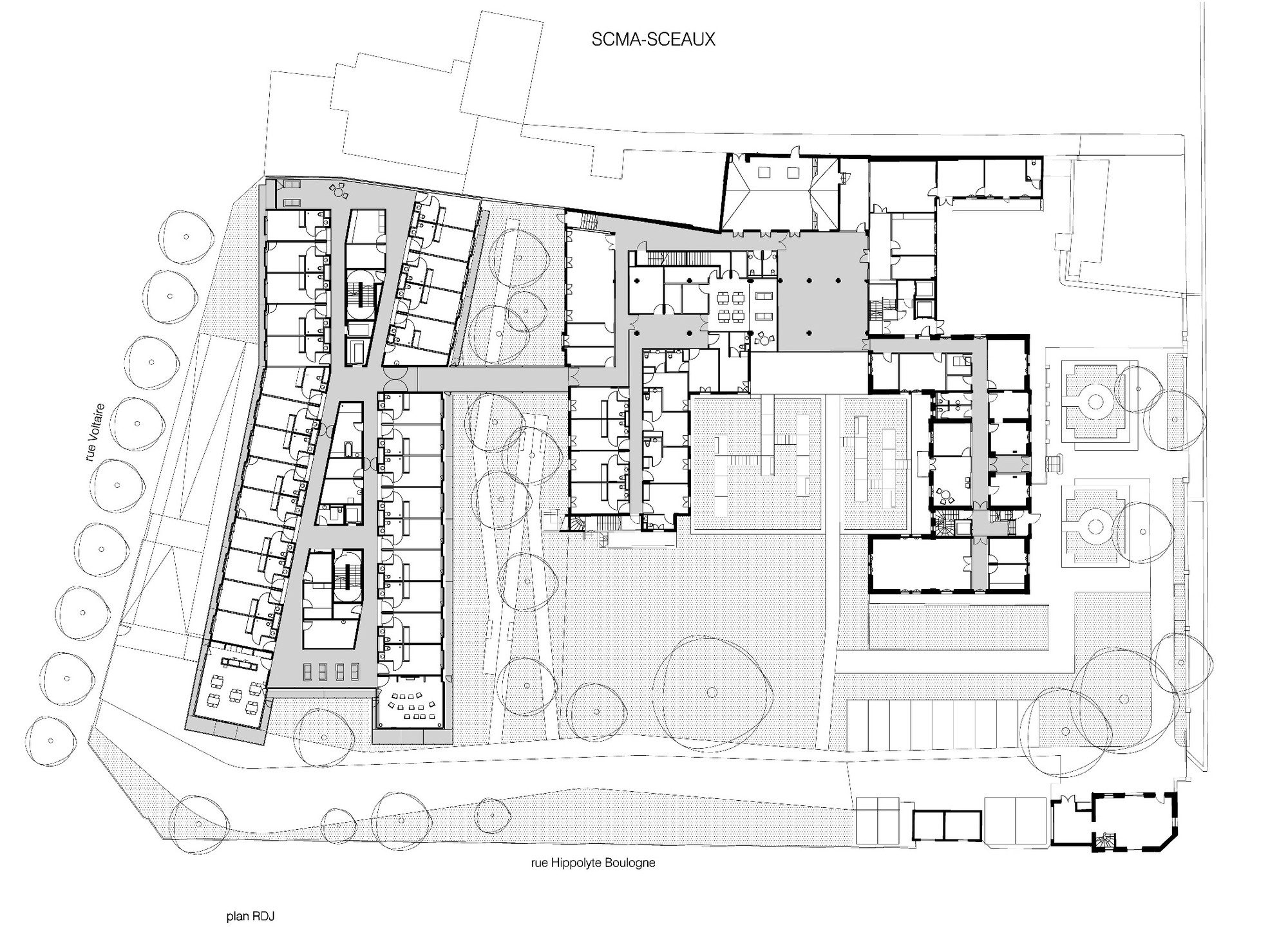 architecture floor plans gallery of maison de retraite philippe dubus architecte 20 10172