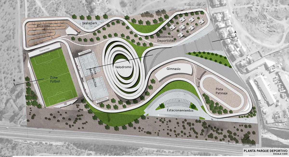 Resultados concurso de anteproyectos parque deportivo for Plantas ornamentales para parques