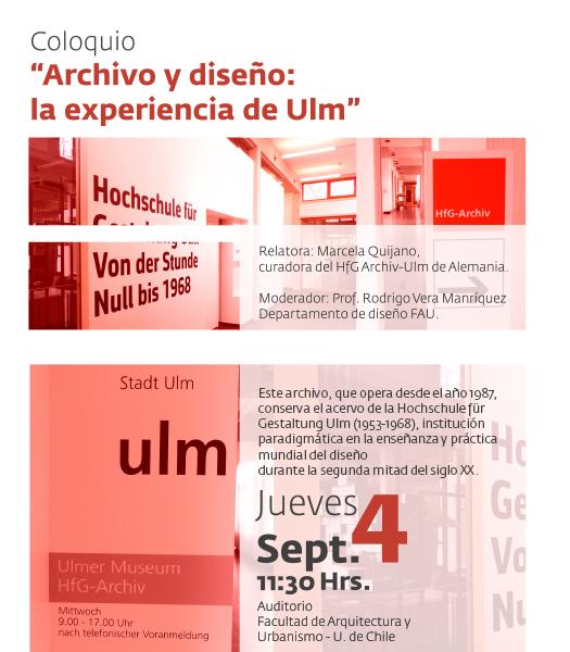 Coloquio Archivo y Diseño: La Experiencia de ULM / Santiago, Chile