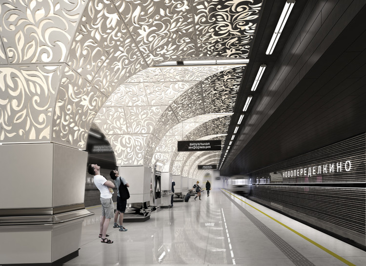 Shortlist Announced for the Moscow Metro Station Competition , Design for Novoperedelkino by U-R-A | United Riga Architects. Image © Evgeni Leonov