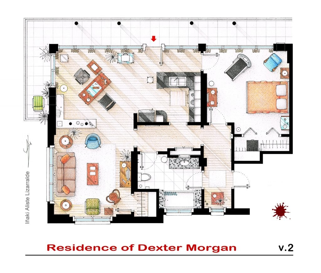 Gallery of from friends to frasier 13 famous tv shows for Gossip girl apartment floor plans