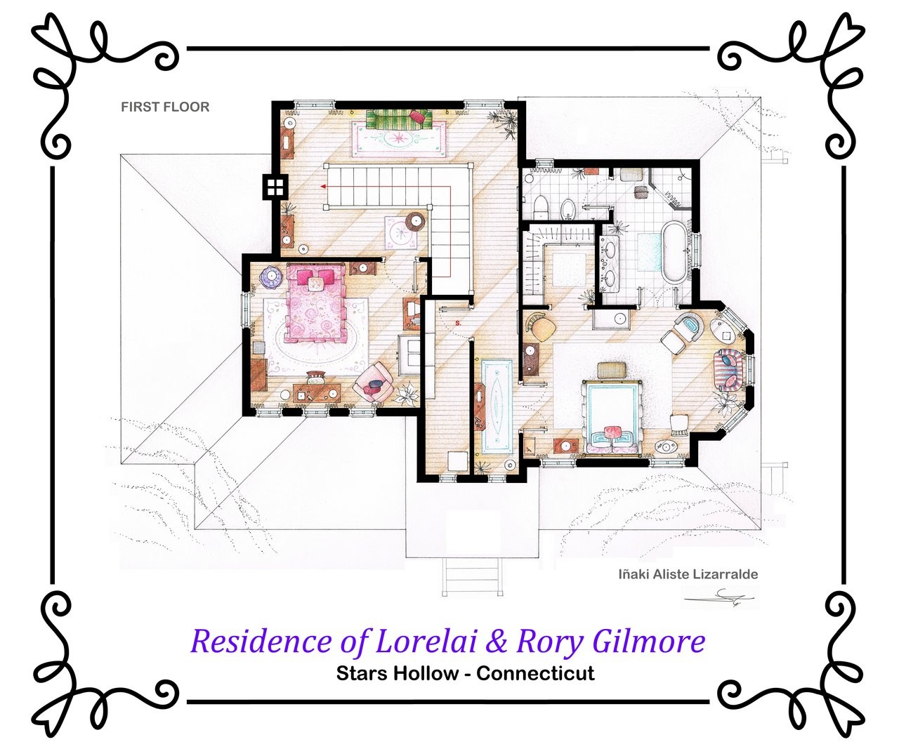 Gallery of from friends to frasier 13 famous tv shows for Strumento di layout piano terra