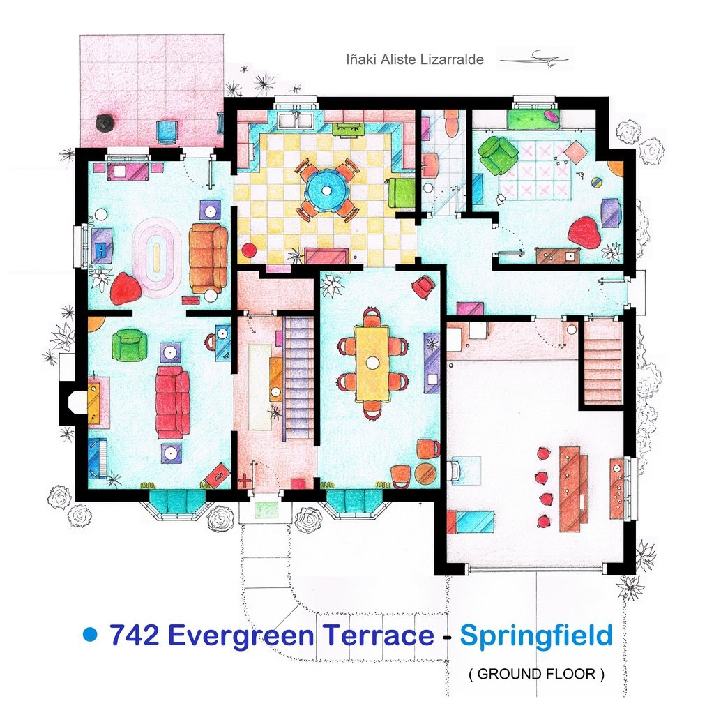 Gallery of from friends to frasier 13 famous tv shows for The nanny house layout