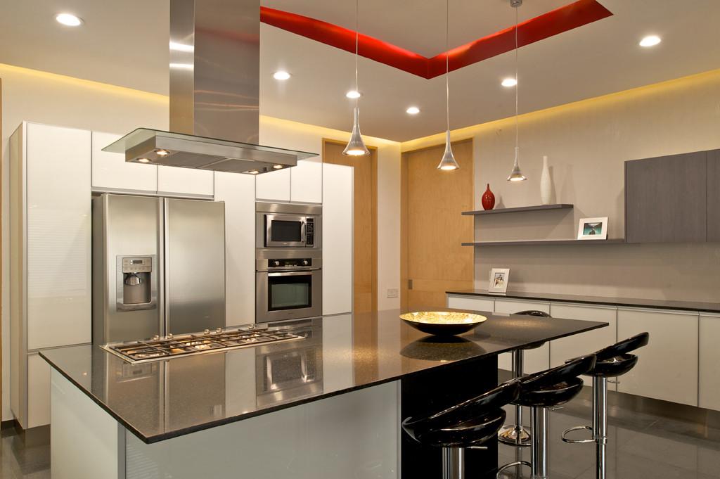 Excelente Cocina Moderna Galería De La Foto Del Diseño Ilustración ...