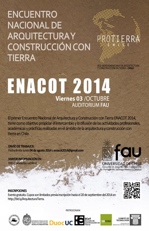 ENACOT 2014: Encuentro Nacional de Arquitectura y Construcción con tierra / Santiago