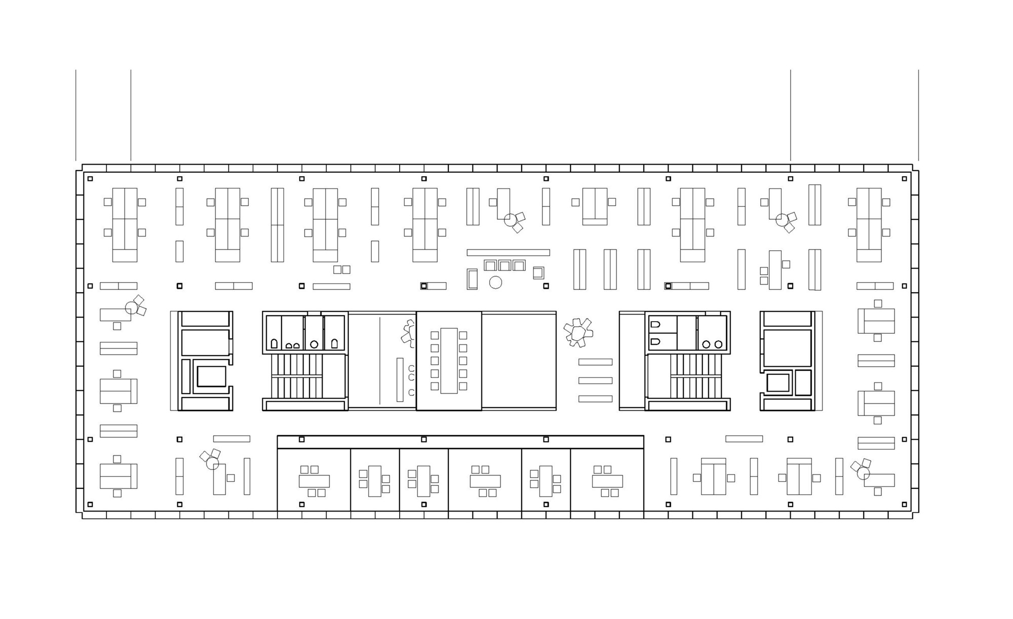 Gallery of office building 200 nissen wentzlaff for Office layout plan design